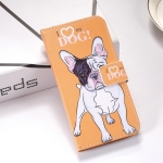 Dog Pattern Colored Drawing Horizontal Flip Leather Case for Galaxy S10+, with Holder & Card Slots & Wallet & Lanyard