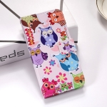 Colorful Owl Pattern Colored Drawing Horizontal Flip Leather Case for Galaxy S10+, with Holder & Card Slots & Wallet & Lanyard