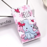 Butterfly Elephant Pattern Colored Drawing Horizontal Flip Leather Case for Galaxy S10e, with Holder & Card Slots & Wallet & Lanyard