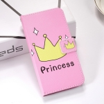 Crown Pattern Colored Drawing Horizontal Flip Leather Case for Galaxy S10e, with Holder & Card Slots & Wallet & Lanyard