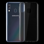 0.75mm Ultrathin Transparent TPU Soft Protective Case for Samsung Galaxy A40