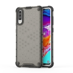 Shockproof Honeycomb PC + TPU Case for Galaxy A70 (Black)