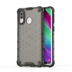 Shockproof Honeycomb PC + TPU Case for Galaxy A40 (Black)