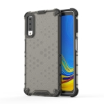 Shockproof Honeycomb PC + TPU Case for Galaxy A7 (2018) (Black)