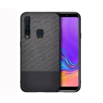 Shockproof Splicing PU + Cloth Protective Case for Galaxy A9 (2018) (Black)