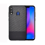Shockproof Splicing PU + Cloth Protective Case for Galaxy M20 (Black)