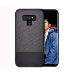 Shockproof Splicing PU + Cloth Protective Case for Galaxy Note 9 (Black)