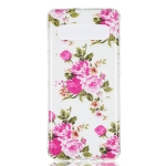 Rosa Multiflora Flower Pattern Noctilucent TPU Soft Case for Galaxy S10 5G