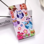 Colorful Owl Pattern Colored Drawing Horizontal Flip Leather Case for Galaxy J6 Plus, with Holder & Card Slots & Wallet & Lanyard