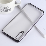 Ultra-thin Electroplating Soft TPU Protective Back Cover Case for Galaxy A50 (Black)