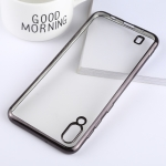 Ultra-thin Electroplating Soft TPU Protective Back Cover Case for Galaxy M10 (Black)