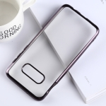 Ultra-thin Electroplating Soft TPU Protective Back Cover Case for Galaxy S10e (Black)