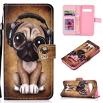Shar Pei Pattern Colored Drawing Horizontal Flip Leather Case for Galaxy S10, with Holder & Card Slots & Wallet & Lanyard