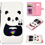 White Bear Pattern Colored Drawing Horizontal Flip Leather Case for Galaxy S10 E, with Holder & Card Slots & Wallet & Lanyard