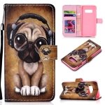 Shar Pei Pattern Colored Drawing Horizontal Flip Leather Case for Galaxy S10 E, with Holder & Card Slots & Wallet & Lanyard