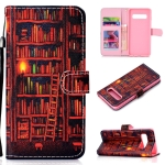Bookshelf Pattern Colored Drawing Horizontal Flip Leather Case for Galaxy S10 Plus, with Holder & Card Slots & Wallet & Lanyard