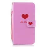 Heart Pattern Horizontal Flip Leather Case for Galaxy M10, with Holder & Card Slots & Wallet