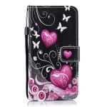 Little Peach Heart Pattern Horizontal Flip Leather Case for Galaxy M10, with Holder & Card Slots & Wallet
