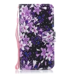 Lily Pattern Horizontal Flip Leather Case for Galaxy M10, with Holder & Card Slots & Wallet