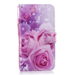 Rose Pattern Horizontal Flip Leather Case for Galaxy M10, with Holder & Card Slots & Wallet