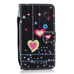 Colorful Heart Pattern Horizontal Flip Leather Case for Galaxy M10, with Holder & Card Slots & Wallet