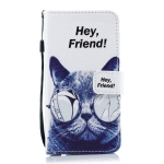 Cat Pattern Horizontal Flip Leather Case for Galaxy A40, with Holder & Card Slots & Wallet