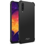 IMAK All-inclusive Shockproof Airbag TPU Case for Galaxy A50, with Screen Protector (Black)
