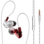 QKZ CK6 HIFI In-ear Plastic Material Music Headphones (Red)