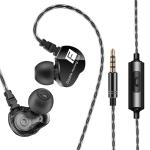 QKZ CK9 HiFi In-ear Four Unit Sports Music Headphones (Black)