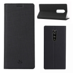 ViLi Texture PU Leather Case for SONY Xperia 1 / Sony Xperia XZ4 ,with Holder & Card Slots & Wallet (Black)