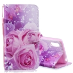 Rose Pattern Horizontal Flip Leather Case for Sony Xperia L3, with Holder & Card Slots & Wallet