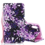 Lily Pattern Horizontal Flip Leather Case for Sony Xperia L3, with Holder & Card Slots & Wallet