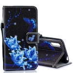Blue Folwer Pattern Horizontal Flip Leather Case for Sony Xperia L3, with Holder & Card Slots & Wallet