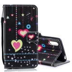 Colored Heart Pattern Horizontal Flip Leather Case for Sony Xperia L3, with Holder & Card Slots & Wallet