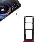SIM Card Tray + SIM Card Tray + Micro SD Card Tray for Tecno Camon X Pro / Ca8 (Red)