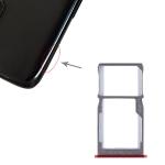 SIM Card Tray + SIM Card Tray / Micro SD Card Tray for Meizu 15 (Red)