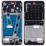 Middle Frame Bezel Plate with Side Keys for Huawei P30 Lite (Black)