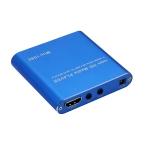 MINI 1080P Full HD Media USB HDD SD/MMC Card Player Box, US Plug(Blue)
