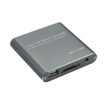 MINI 1080P Full HD Media USB HDD SD/MMC Card Player Box, US Plug(Silver)