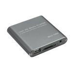 MINI 1080P Full HD Media USB HDD SD/MMC Card Player Box, UK Plug(Silver)