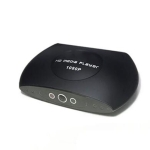 H.265/HEVC HD 1080P HD Media Player Advertising Autoplay Loop-Play Box, EU Plug(Black)