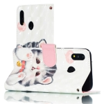 3D Pattern Colored Drawing Horizontal Flip Leather Case for Huawei P20 Lite , with Holder & Card Slots & Wallet & Lanyard(Tinker Cat)