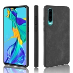 Shockproof Sheep Skin PC + PU + TPU Case for Huawei P30(Black)