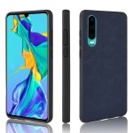Shockproof Sheep Skin PC + PU + TPU Case for Huawei P30(Blue)