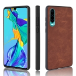Shockproof Sheep Skin PC + PU + TPU Case for Huawei P30(Brown)