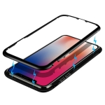 Mocolo Magnetic Metal Frame Tempered Glass Case for iPhone X / XS(Black)