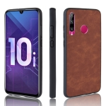 Shockproof Sheep Skin PC + PU + TPU Case for Huawei Honor 10i/Honor 20i(Brown)