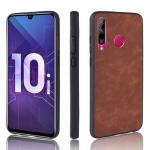 Shockproof Sheep Skin PC + PU + TPU Case for Huawei Honor 10i/Honor 20i(Brown)