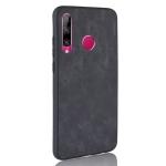 Shockproof Sheep Skin PC + PU + TPU Case for Huawei P Smart Plus 2019/ Enjoy 9s(Black)