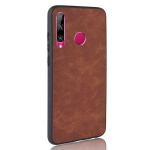 Shockproof Sheep Skin PC + PU + TPU Case for Huawei P Smart Plus 2019/ Enjoy 9s(Brown)